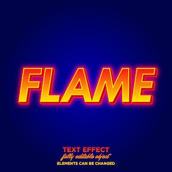 Flame text style with red glow glow