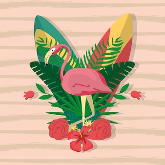 Flamenco exotic bird