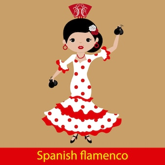 Flamenco woman playing the castanets
