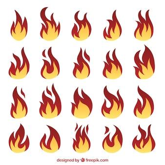 Пламя различных форм
