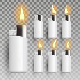 Flaming lighter set