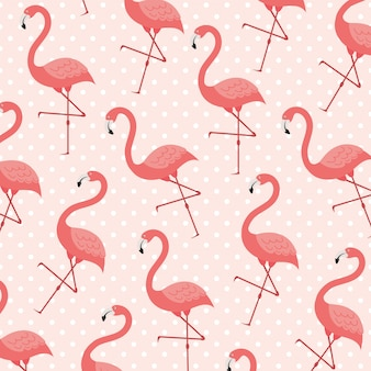 Flamingo composition in living coral style