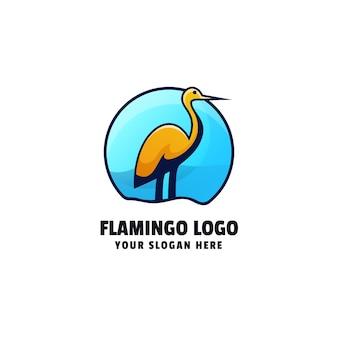 Flamingo logo template