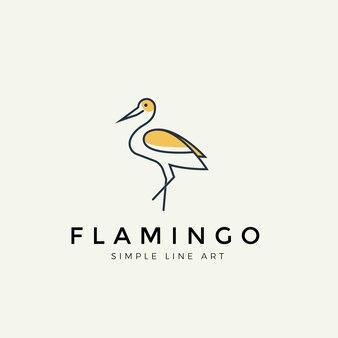 フラミンゴモダンラインロゴ