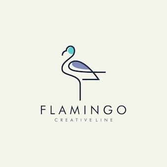 Flamingo modern line logo