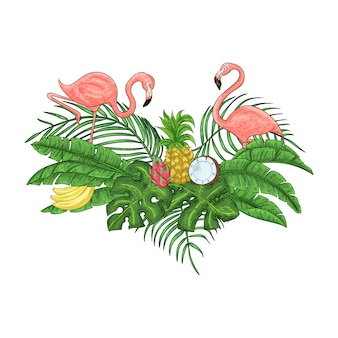 Flamingo party invitation card