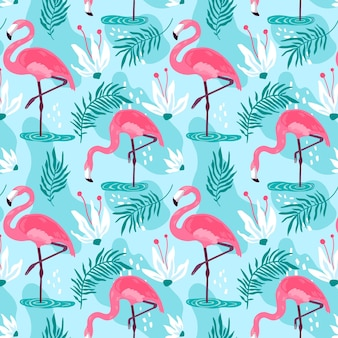 Flamingo pattern collection concept
