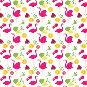 Flamingo pattern collection theme