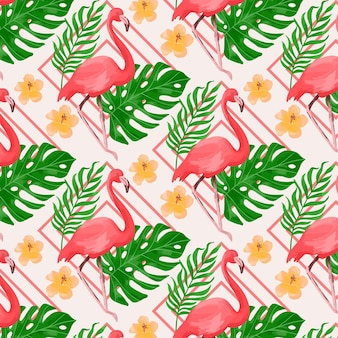 Flamingo pattern concept