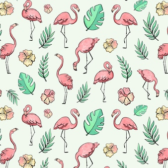 Flamingo pattern theme