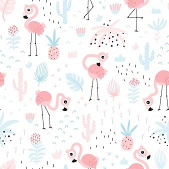플라밍고 원활한 패턴