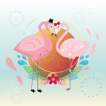 Flamingo Summer Love