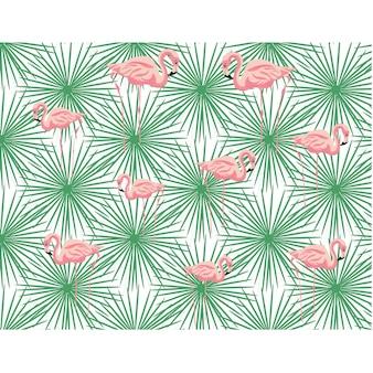 Flamingos pattern design
