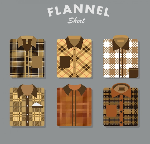 Flannel shirt collection
