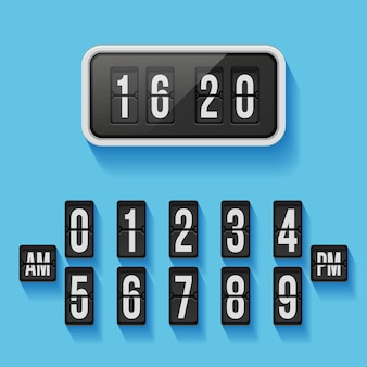 Flap counter clock template