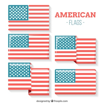 Flapped american flag collection