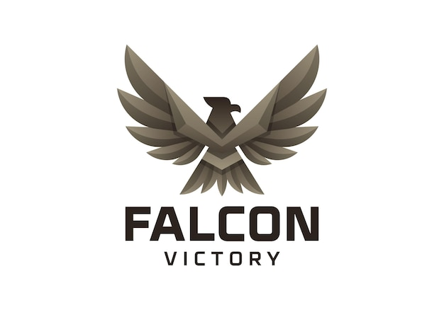 The flapping of the wings of the eagle logo symbolizes victory