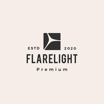 Flare light hipster vintage logo  icon illustration