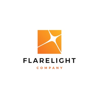 Flare light logo vector icon illustration download