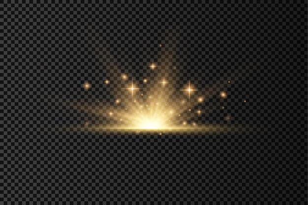 光線と魔法の輝きを備えたフレア特殊効果