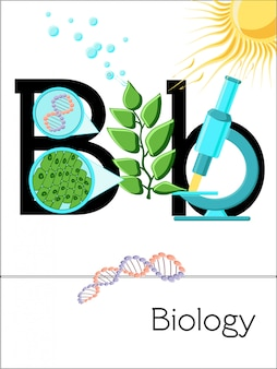 Flash card letter b is for biology