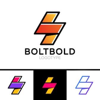 Электрическая концепция логотипа. молния болт минимальный простой стиль символа. flash-дизайн векторного шаблона. значок концепции логотипа energy power speed.