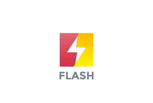 白で隔離のフラッシュロゴ