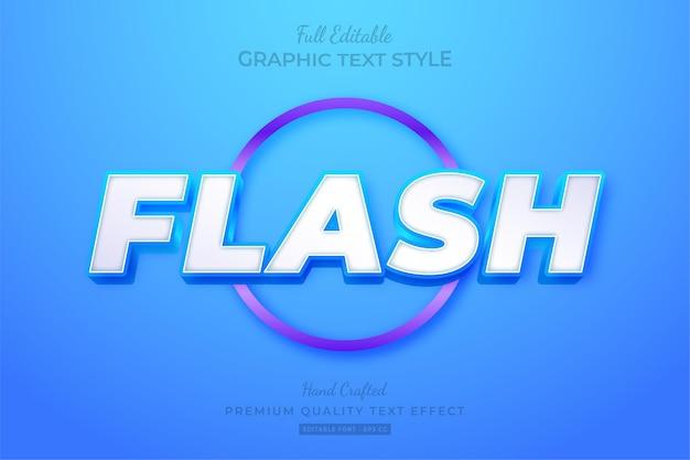 Flash modern bold editable text effect