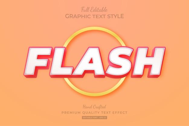 Стиль шрифта с эффектом современного редактируемого текста flash