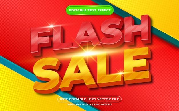 플래시 판매 3d 편집 가능한 텍스트 효과 만화 배경