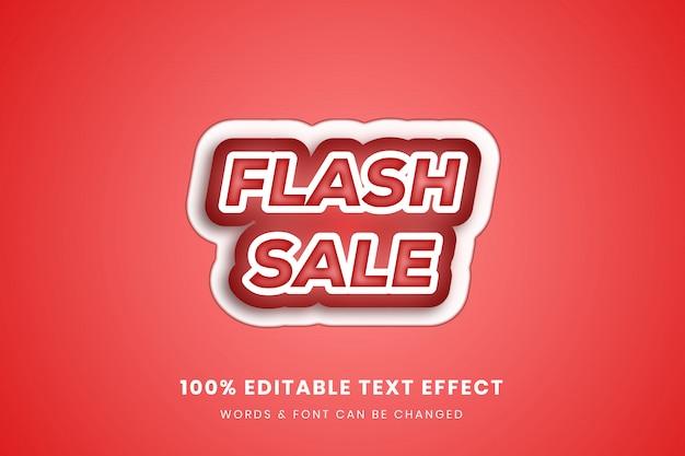 Flash sale 3d editable text effect
