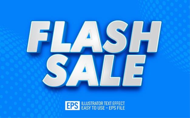 Flash sale 3d text editable style effect template