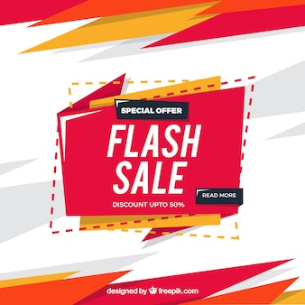 Flash sale background in flat style