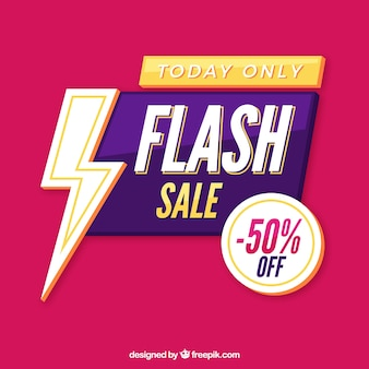 Sfondo di vendita flash in stile piatto