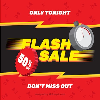 Фон для продажи flash в плоском стиле