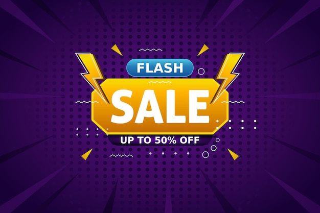 Flash sale background template