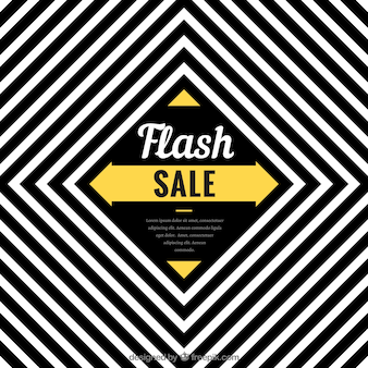 Flash sale background with black and white stripes