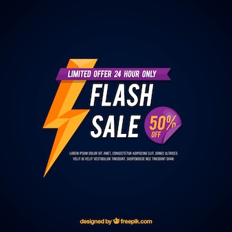 Flash sale background with flat style