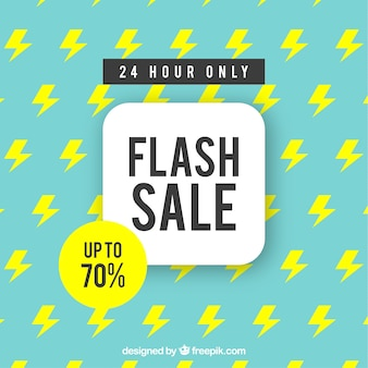 Flash sale background with pattern in flat style