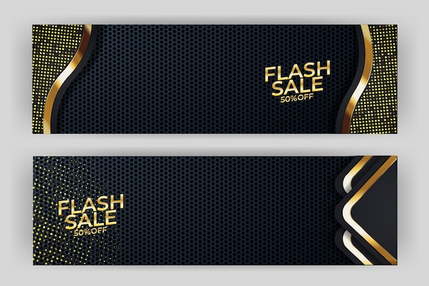 Flash sale banner background luxury design