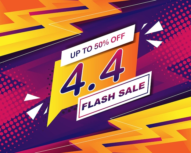 4.4 판매 이벤트용 플래시 판매 배너 배경 템플릿