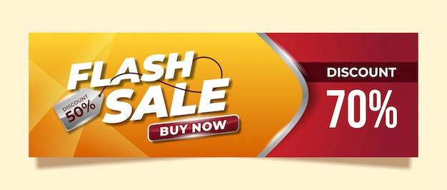 Flash sale banner design for promotion