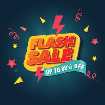 Flash sale banner design template