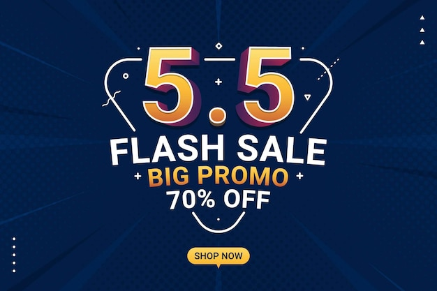 Flash sale banner shopping day background for business retail promotion