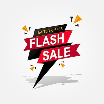 Баннер flash sale. иллюстрация шаблона специального и ограниченного предложения