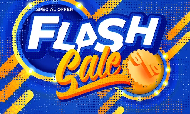 Flash sale banner template background