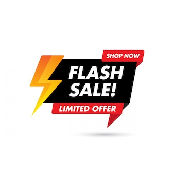 Flash sale banner template design, big sale special offer. end of season special offer banner. abstract promotion graphic element.