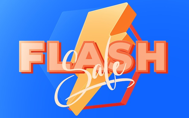 フラッシュセールバナーテンプレートdesign.vectorイラスト。