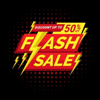 Flash sale banner template discountperfect for boost your product promotion sales