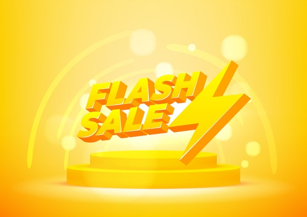 Flash sale banner template. layout for online shopping, product, promotions, website and brochure. vector illustration.